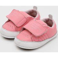 Tênis Lilica Ripilica Infantil Velcro Rosa
