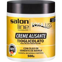 Creme Alisante Salon Line - Manga Forte Pote - 500Gr - Unissex-Incolor