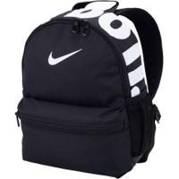 Mochila Nike Brasilia Jdi Mini - Infantil - 11 Litros - Preto/Branco