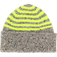 Paul Smith Neon Yellow Striped Beanie - Cinza