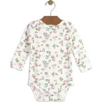 Body Floral- Branco & Rosa Claroup Baby - Up Kids