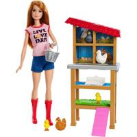 Playset E Boneca Barbie - Profissões - Barbie Granjeira - Mattel