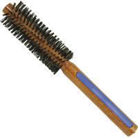 Escova De Cabelo Escovas Fidalga Redonda Pequena Com Cerdas De Javali Azul