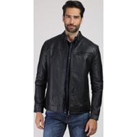 Jaqueta Masculina Com Micro Furos E Bolso Preta