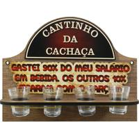 Cantinho Da Cachaça C/ 4 Copos Gastei... Kasa Ideia - Tricae
