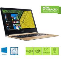"Notebook Acer Swift 7 Sf713-51-M0Bq Intel Core I7 8Gb 512 Ssd 13.3"" Windows 10"