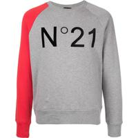 Nº21 Moletom Com Logo - Cinza