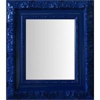 Espelho Moldura Rococó Externo 16351 Azul Art Shop