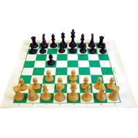 Brinquedo Educativo Xadrez Profissional Com Tabuleiro 45X50 Jottplay Amarelo