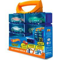 Hot Wheels Porta Carrinhos Com 8 Divisões - Fun Divirta-Se
