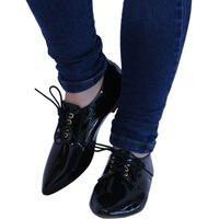 Sapato Feminino Preto Sapato Oxford Preto Bico Fino