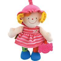 Mordedor Ks Kids Boneca Baby Julia - Colorido - K10405 - Rosa