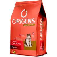 Ração Para Gatos Castrados Origens Premium Especial Sabor Frango 3Kg