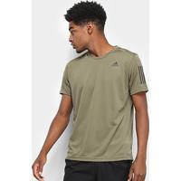 Camiseta Adidas Response Masculina - Masculino-Marrom