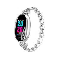 Smartwatch E68 Bracelete Feminino - Prata
