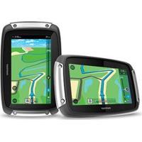 Gps Para Moto Tomtom Rider 400 4.3 Touch Screen, 8Gb Com Alerta De Radar Atualização Vitalícia P Preto