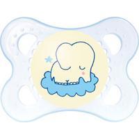 Chupeta - Night Silk Touch - Meninos - Fase 1 - Elefante - Mam - Masculino-Azul