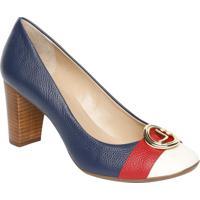 d32467ca5f Sapato Tradicional Em Couro Com Tag   Tira- Azul Marinhojorge Bischoff
