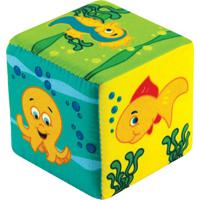 Cubo Fundo Do Mar - Amarelo & Verde- 9X9X9Cm - Ccia Brink