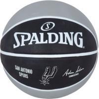 Bola De Basquete Spalding San Antonio Spurs - Preto/Cinza
