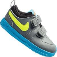 Tênis Para Bebê Nike Pico 5 Td - Baby - Cinza Esc/Azul