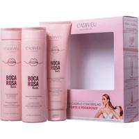 Kit Home Care Boca Rosa Cadiveu Shampoo 250Ml+Condicionador 250Ml+Proteína 150Ml