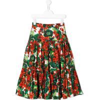 Dolce & Gabbana Kids Saia Portofino Com Estampa - Verde