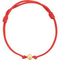 Nialaya Jewelry Pulseira Com Pingente De Vinil - Vermelho