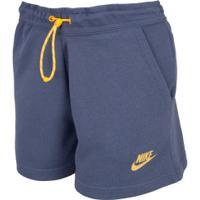 Shorts Nike Icon Clash Ft - Feminino - Azul Escuro
