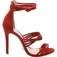 Sandália Knot Velvet Tango Red | Schutz