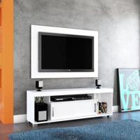 Rack Com Painel Para Tv 55 Polegadas Pierre Branco