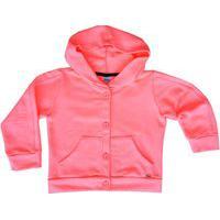Blusa Bebê Menina Moletom Rosa Neon