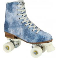 Patins 4 Rodas Retrô Oxer Jeans - Quad - Adulto - Azul