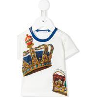 Dolce & Gabbana Kids Camiseta Com Estampa De Coroa - Branco