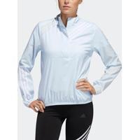 Agasalho Adidas Anoraque Run It 3-Stripes Feminina - Feminino-Azul