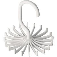 Cabide Giratã³Rio Para Gravatas- Branco- 11Xã˜10,8Cm