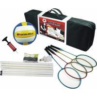 Kit Badminton Vôlei Winmax Wmy02045 Para Familia