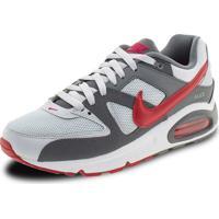 Tênis Masculino Air Max Command Nike - 629993 Cinza/Vermelho 38