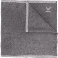 Kenzo Echarpe Com Logo E Acabamento De Listras - Cinza