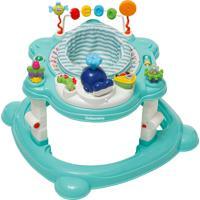 Carrinho Andador 4 Em 1 Para Bebê Galzerano Funny 4030Vda Verde
