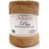 Manta Microfibra Flannel Casal Pisa 1,80X2,20 - Altomax - Camurça