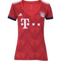 Camisa Bayern De Munique I 18/19 Adidas - Feminina - Vermelho/Branco