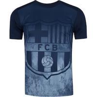 Camiseta Barcelona Brasão 19 - Masculina - Azul