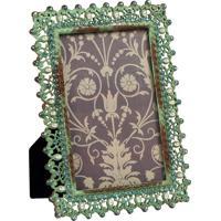 Porta-Retrato De Metal Envelhecido Decorativo Com Strass Hedge