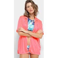 Saída De Praia Flora Zuu Camisa Neon Feminina - Feminino