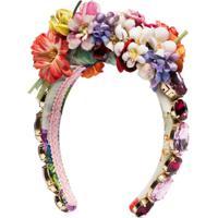 Dolce & Gabbana Acessório Para Cabelo Com Aplicação Floral - Vermelho