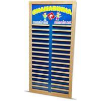Chamadinha Carlu - Madeira - 1014 - Azul