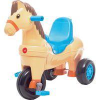 Triciclo Infantil Calesita Carrinho De Passeio Poto 2 Em 1