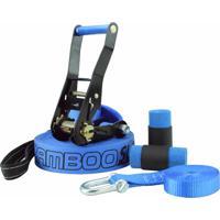Slackline Zamboo Pro Black 20 Mts - Azul