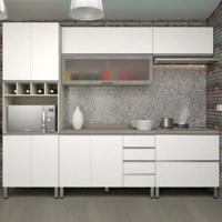 Cozinha Lis Completa - 5 Peças - Legno Crema Com Branco Mat - Prime Plus - Luciane